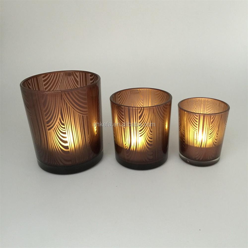 Bunte runde matt kerzenhalter glas leuchter produkt id for Glas kerzenhalter