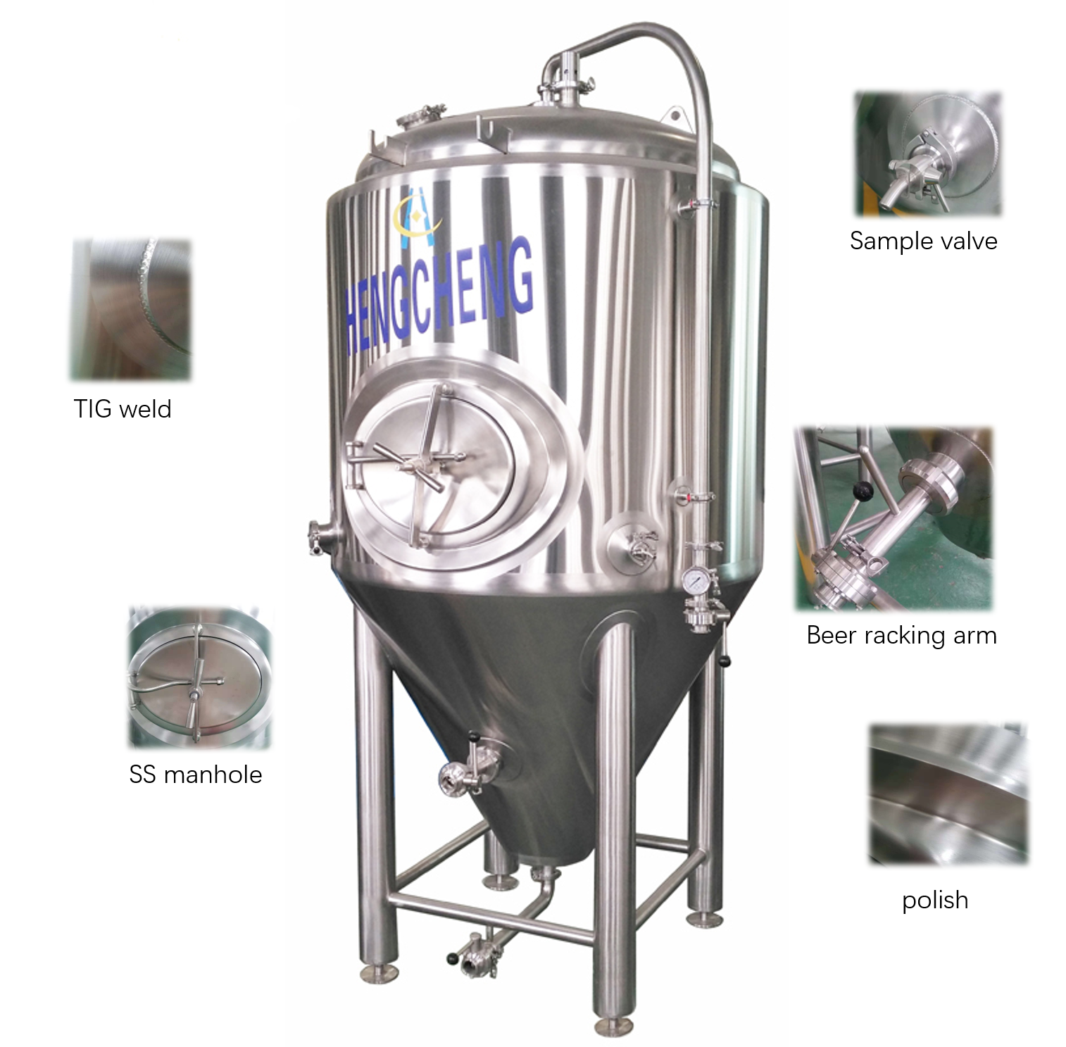 China manufacturer supply high quality stainless steel conical fermenter for sale making craft beer