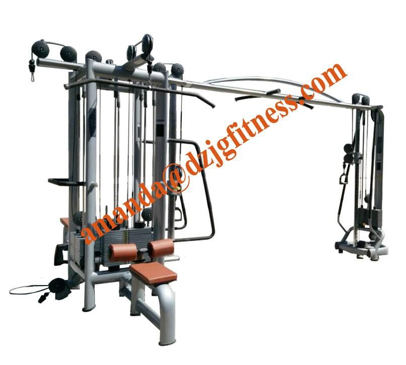 Multigimnasio equipos 5 estaci n equipamiento de gimnasio for Productos gimnasio