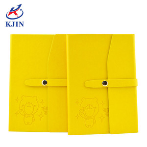 perfect binding OEM color changing yellow PU note book with magnetic clasp