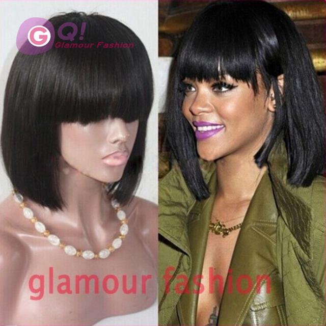 Sensational Fashion Rihanna Bob Lace Wig 130Density Brazilian Lace Front Wigs Hairstyle Inspiration Daily Dogsangcom