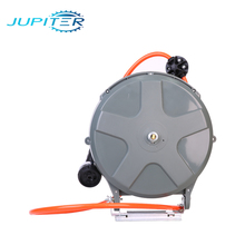 Auto lock slow retractable high pressure semi-closed water automatic electric spring industrial cable reel drum