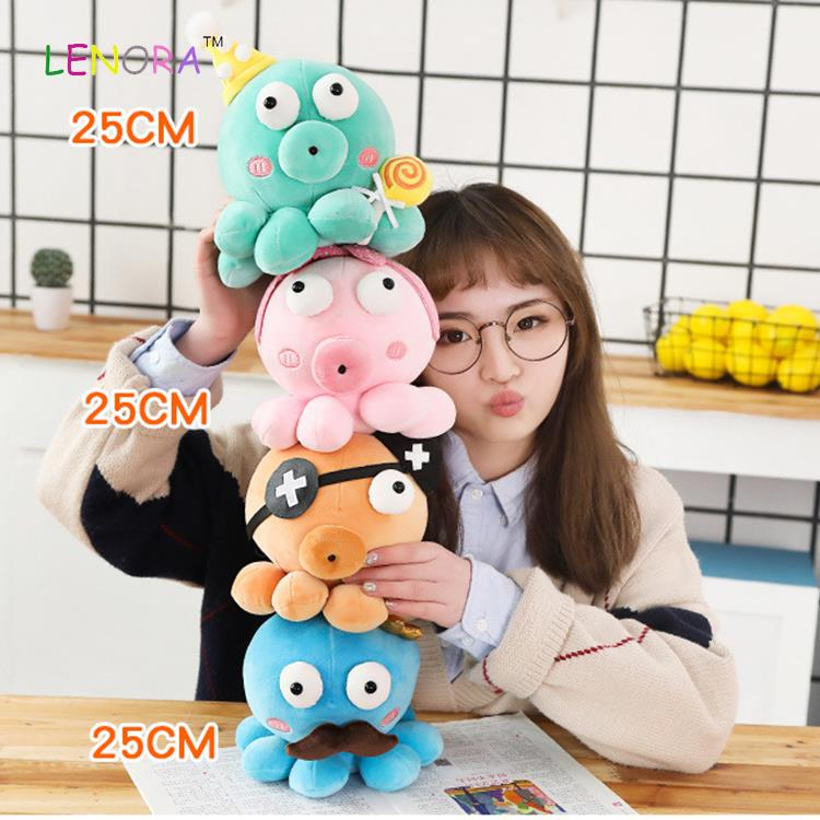Hot Selling Cute Marine Animals Doll Sea animal octopus stuffed soft  Custom 20cm blue fluffy Cute big eyes Octopus Plush Toys