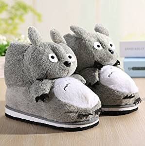 Cute cartoon My Neighbor Totoro Slippers Kid Slippers Autumn and winter thick home warm cotton slippers /child plush slippers /Anti-skid Home House Slippers Fashion Travel Couples gift Slippers