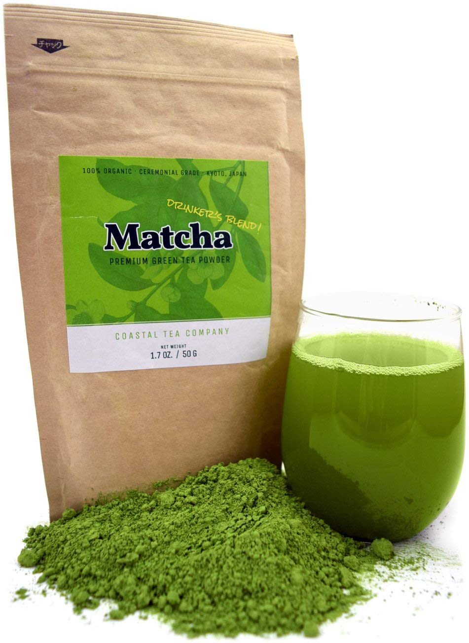 Coastal Tea Company Organic Ceremonial Matcha, Japanese Green Tea Powder, Drinking Grade, 1.7 Ounce