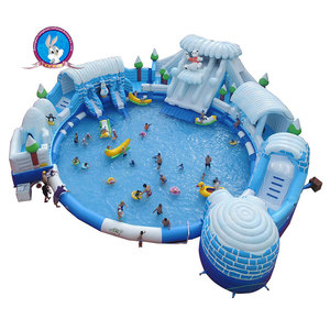 penguin ice castle inflatable water pool park water park attractions