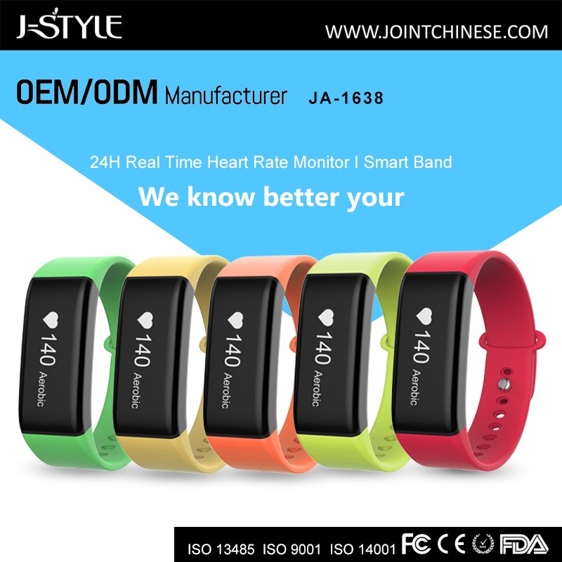 Smart Wristband with Continuous Heart Rate Fitness Activity Tracker Bluetooth