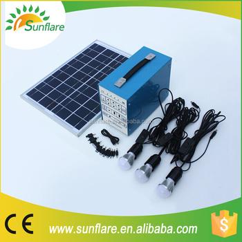 Hoge Powered Solar Verlichting Kit Sf-10w Ondersteuning Ventilator ...