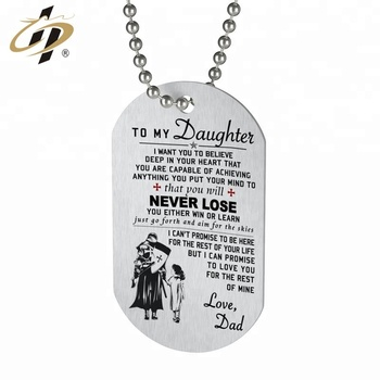 New design custom your own logo cheap stainless steel metal dog tag with ball chain