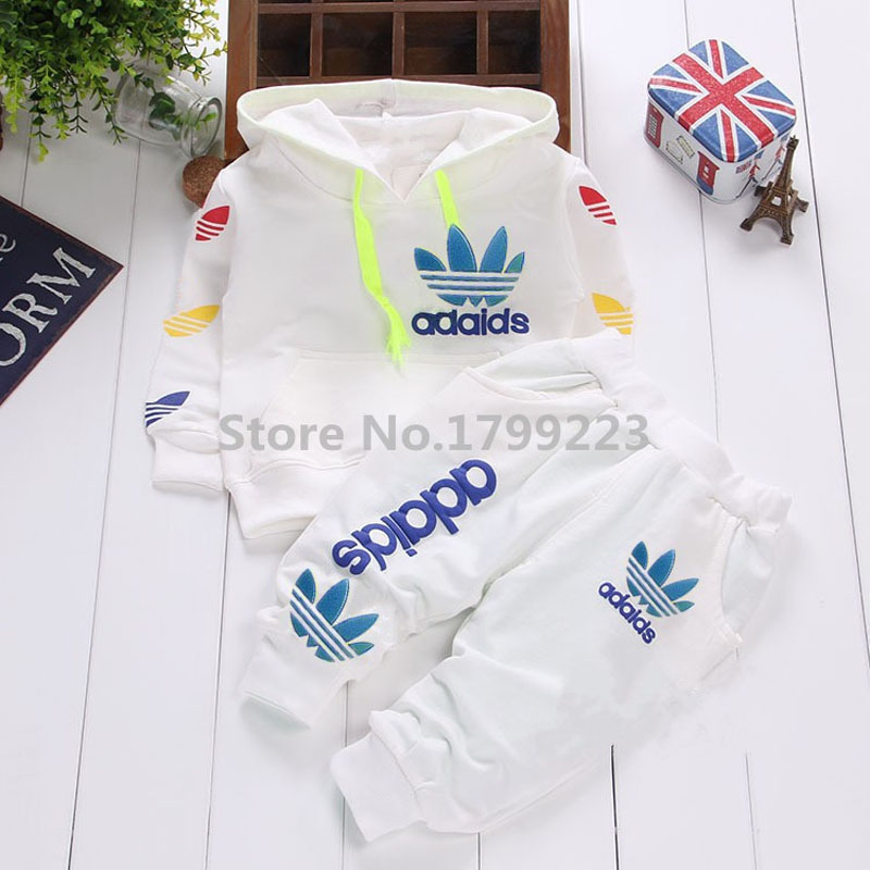 Kids Baby Boys Outfits Clothes Set Infant Boy Clothes Suits Hooded T-shirt+Pants