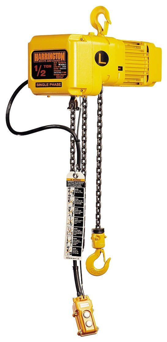 Harrington SNERM005L-L/S-20 Electric Chain Hoist 20' Of Lift 1/2 Ton