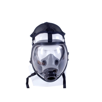 China Gas Mask Manufacturer Supplied Spherical Full Face Mask Respirator , Activated Carbon Filter Gas Mask