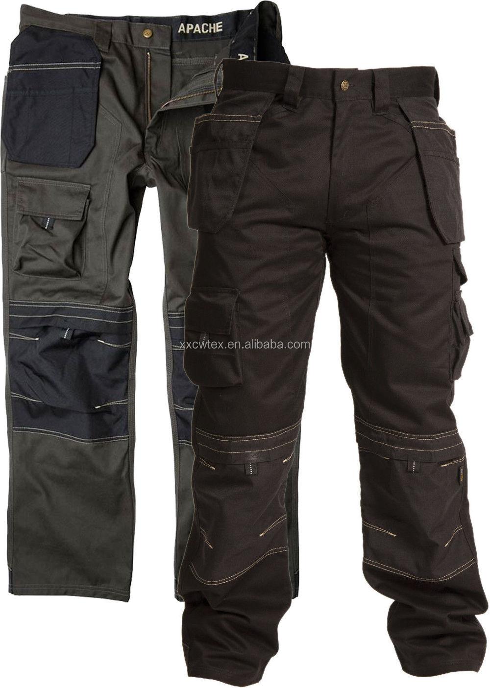Cvc60/40 Men's Heavy Duty Cargo Work Pants With Many Pockets For ...