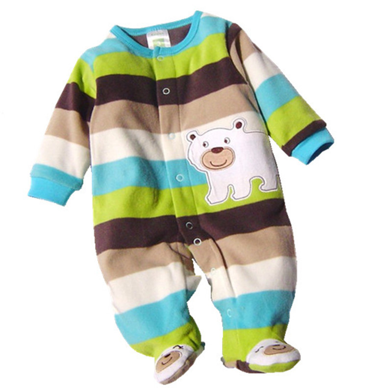 c6cb6c6718d3 Autumn Winter Baby Rompers Clothes Newborn Boy Girl Polar Fleece Baby  Jumpsuit Clothing