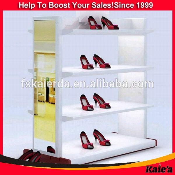Zapato de la exhibición del estante/al por menor de calzado estante ...