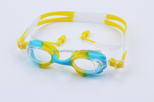 silicone swimming goggles clear for children