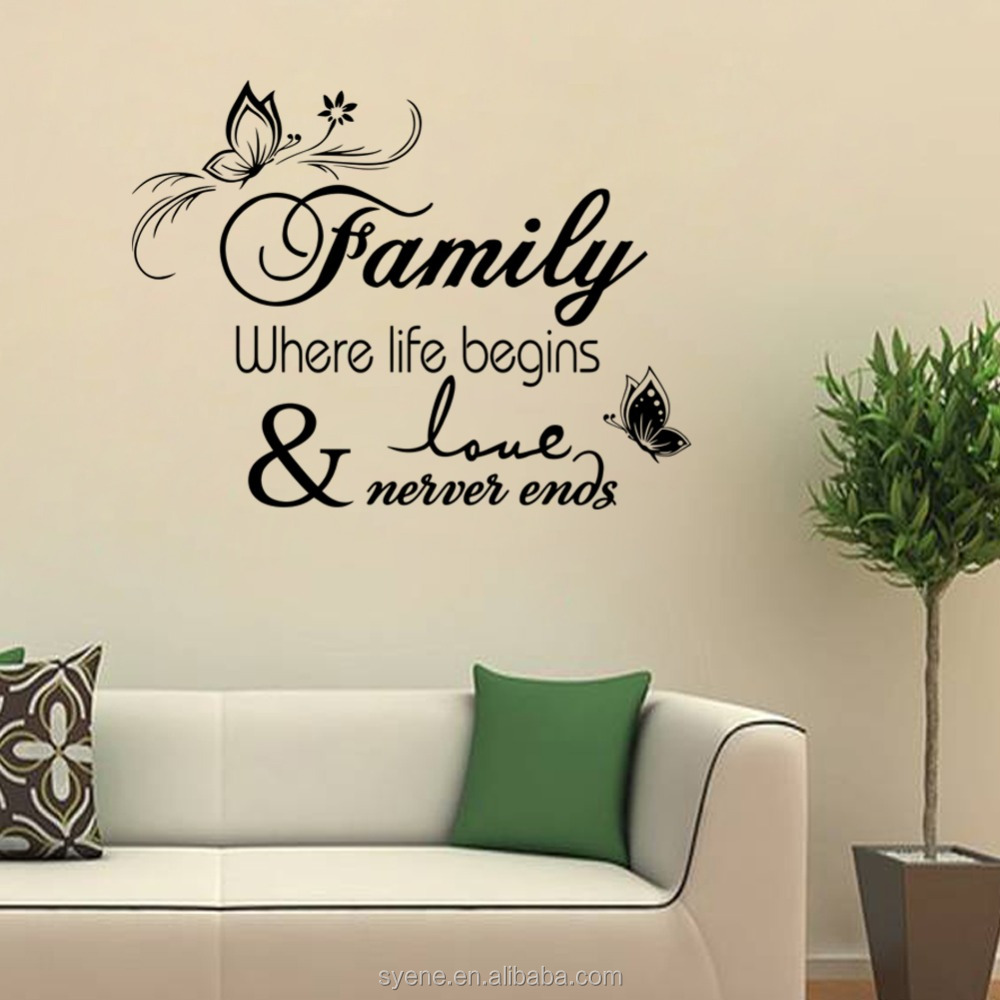 Life Wall Quotes Wall Art Mirror Sticker Plastic Flower Chart Paper Decoration 3D