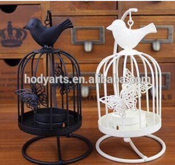 Wholesale New Design For Home Decoration Metal Bird Cage Candle