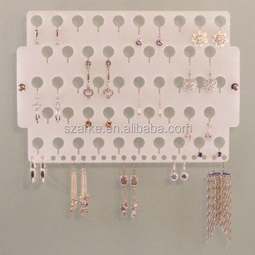 Wall Mount Earring Holder Rack Hanging Jewelry Organizer Display
