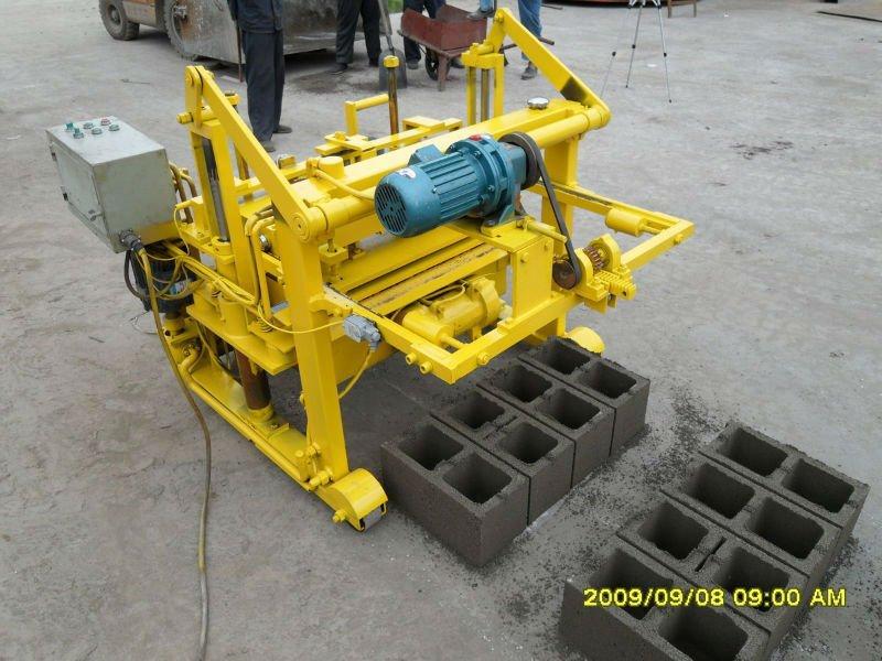 Manual Hydraulic Moving Egg Laying Concrete Block Machine
