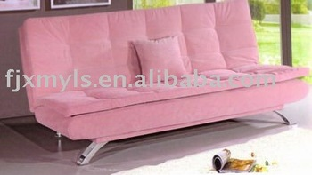 Elegant Pink Fabric Sofa Bed