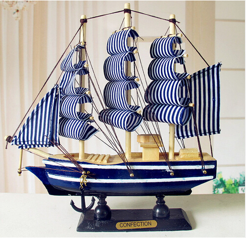 Guaranteed 100% Sailing Boat Model <font><b>Home</b></font> <font><b>Decoration</b></font> 20*5*18CM