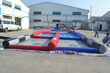Customized Designed Inflatable Air Race Track For Zorb Ball Rolling Water Walking Ball Pool
