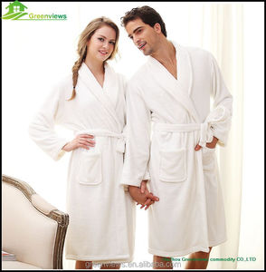 Adults coral fleece robe polyester plush bathrobe men printed sleepwear in pajamas bath gown embroidered robes