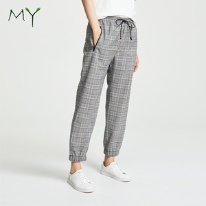 97b43f7b391 100 Cotton Elastic Waist Drawstring Pants