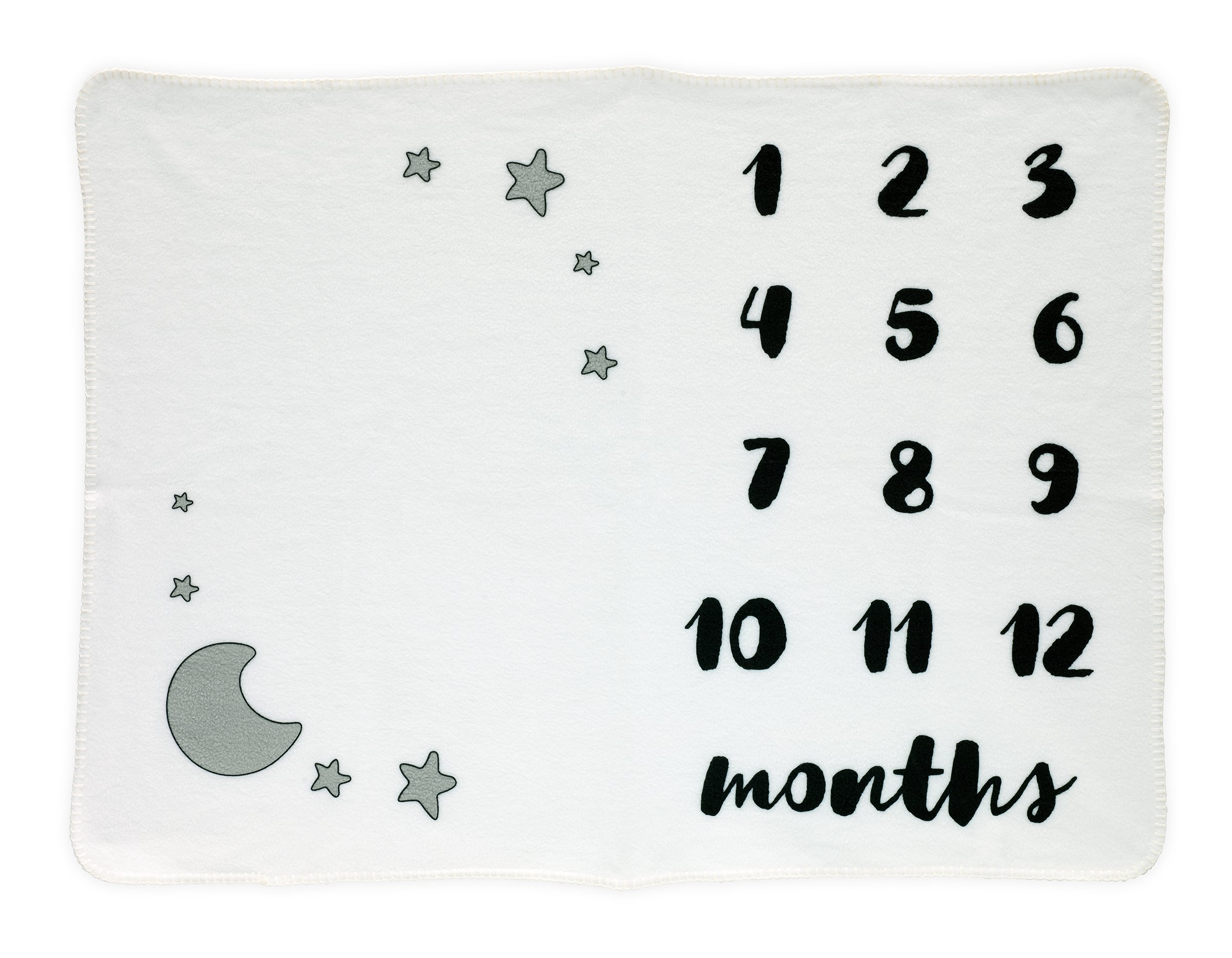 Baby Milestone Blanket | Month Blanket for Baby Pictures | Baby Monthly Milestone | Photo Backdrop Prop For Newborn and Infant | Shower Gift | Gender Neutral Unisex Boy or Girl