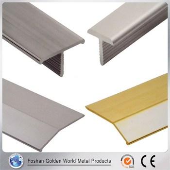 100 Original Material T Shape Silver Aluminium Tile Trim