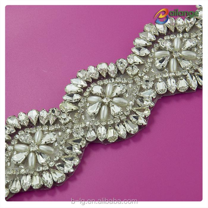 product latest design crystal rhinestone applique bridal gown