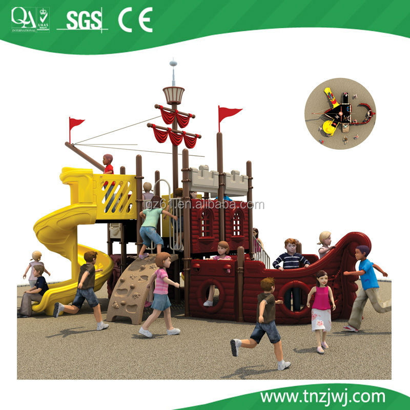 2014 cute wholesale children outdoor plasstic playground pirate ship