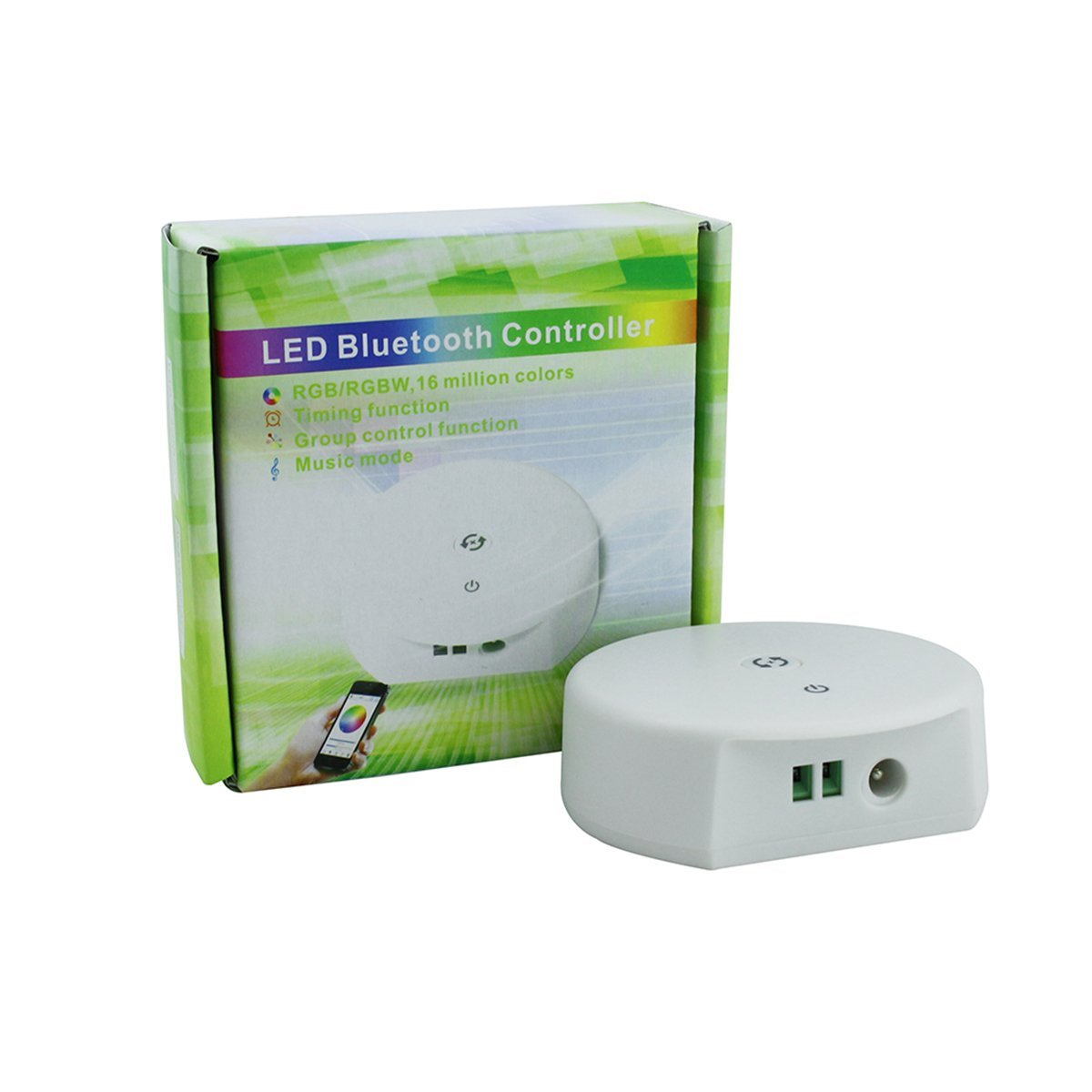 KPBOTL Magic UFO LED Controller Bluetooth RGB control dimmer DC12-24V for RGB,RGBW,RGBWW led strip light Smartphone Control support IOS or Android system (Bluetooth)