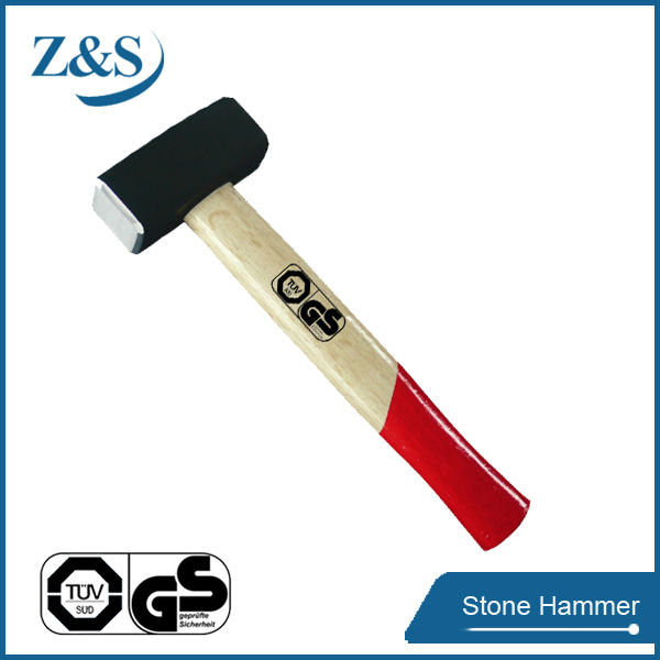 Germany Type Stone Hammer With bleaching wooden handle