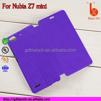 for nubia z7 mini leather case, for z7 mini cell phone case