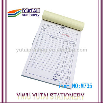 Ncr Invoice Book Sample Purchase Order Form  Buy Carbonless Paper