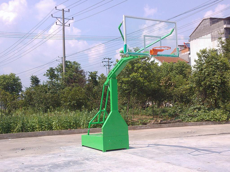 fixed flat box basketball backboard stand outdoor exercise equipment steel pipe