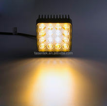 48W Flood Beam Cob LED Project Lamp Off Road Lighting DRL Amber LED 12V DC Work Light