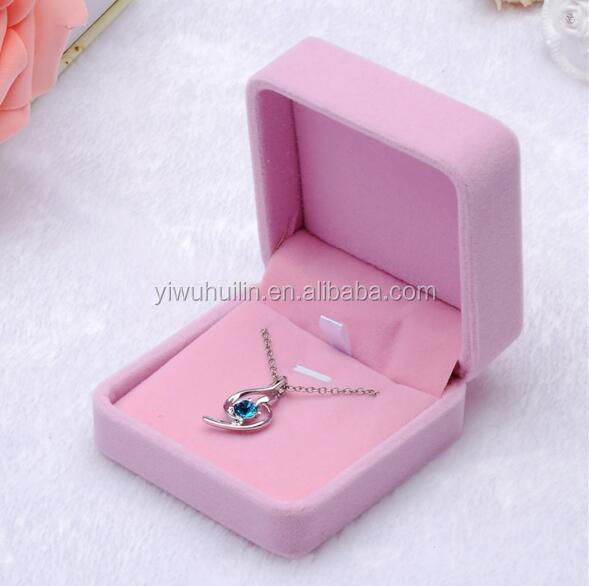 MN004 Huilin Jewelry Pink Velvet Jewelry Box velvet jewelry box For necklace bracelet ring watch