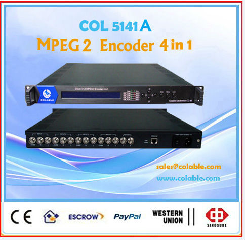 COL5141A satellite and terrestrial digital TV head-end equipment mepg2 sd video encoder