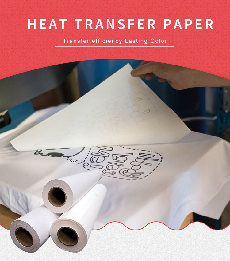Sublimation heat transfer printing for inkjet paper