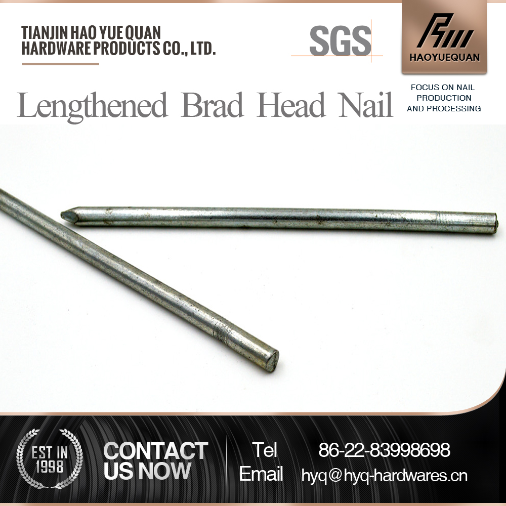 china low price products galvanized headless nail brad head nail galvanized iron wire steel straight brad nails