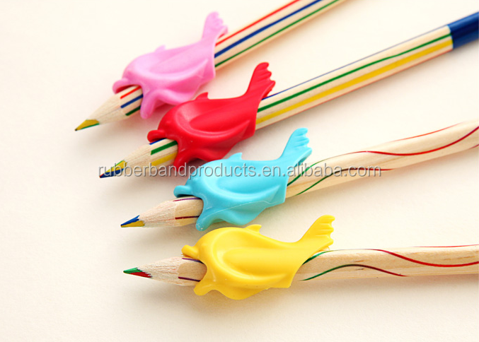 Wholesale Price Color Soft Rubber Silicone Pencil Grips, Silicone Pen Sleeves