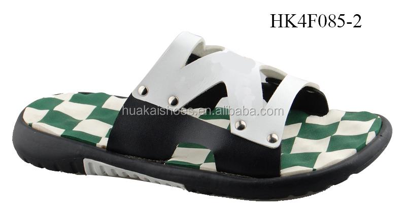 Dubai Style Eva Sole Men Slippers Pu Cheap Wholesale Slippers ...