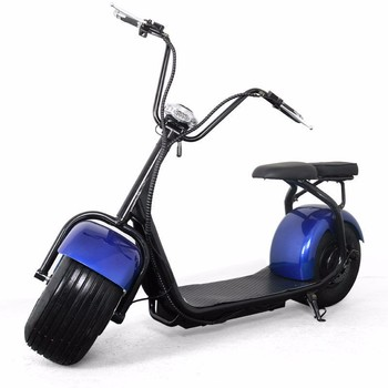 Big wheel citycoco electric two seat harley scooter 1000w for Big wheel motor scooter