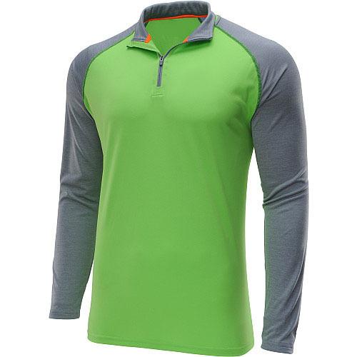 100 polyester long sleeve 1 4 zipper dri fit men 39 s for Dri fit fishing shirts