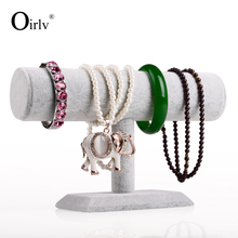 Oirlv Velvet Bangle Hairpin Watch Exhibitor Holder Jewelry Display Stand Rack T Bar Bracelet Stand
