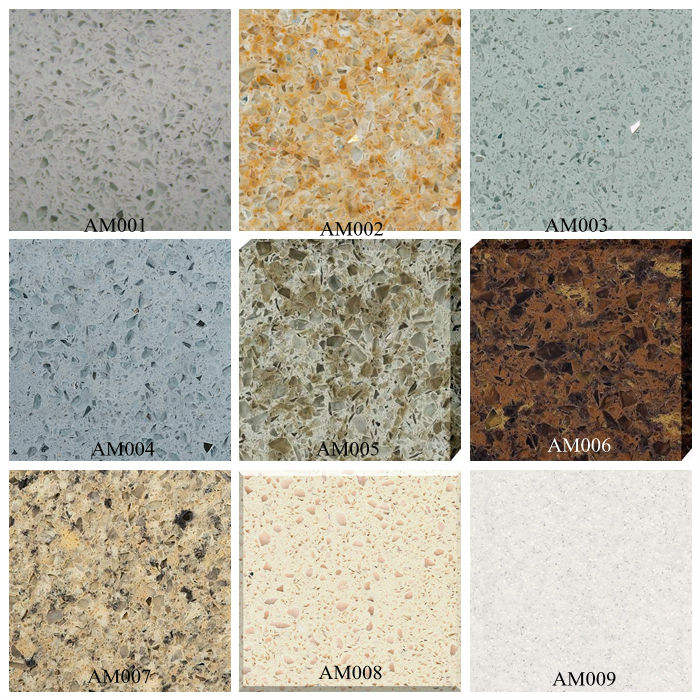 Solid Surface Sparkle Quartz Stone Countertop