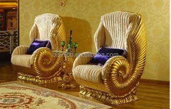 Lusso antico placcato oro nuovo stile luigi legno living room